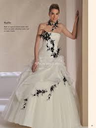 robe de mari e noir et blanc robe de mariée en noir et blanc le de la mode