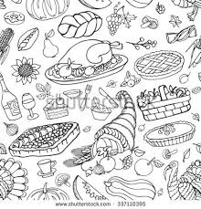 thanksgiving day icons seamless patterndoodle backgroundautumn