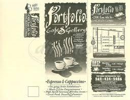 portfolio coffee house menu long beach dineries