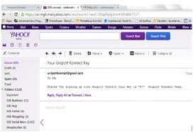 Yahoo Mail Yahoo Mail Message Showing Content Of Validation Mail Sent From