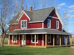 Farmhouse Exterior Lp Smartside Siding Trim Color Is Cinnabar Farmhouse Old