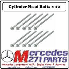 mercedes engine parts mercedes m271 cylinder bolts a2710160369 mercedes m271