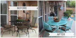 refinishing wrought patio furniture home design ideas and