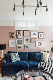 julia goodwin u0027s san francisco home tour blue velvet sofa pink