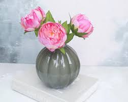 Faux Peonies Peony Bouquet Etsy