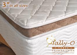talalay latex mattress topper pads