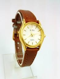 Jam Tangan Alba Mini jual jam tangan wanita kulit alba classic mini gold brown wl ab 01