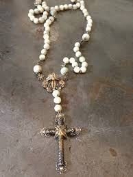 pearl rosary vintage of pearl rosary necklace vintage jules
