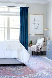 curtain ideas for light blue walls beautiful and white bedroom