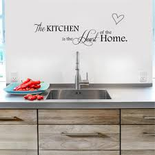 newest design kitchen is heart of the home letter pattern wall
