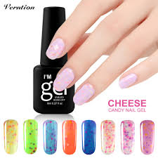 verntion ice cream colors cheese nail gel polish long lasting uv