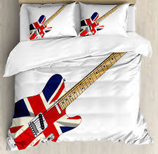 Guitar Duvet Cover Union Jack Bedding Ebay