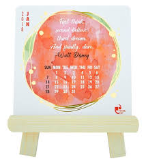 2018 easel desk calendar buy paper wood 2018 easel calendar by thinkpot online calendars