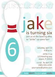 retro modern bowling party birthday invitation printable just