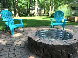 Diy Backyard Fire Pit Ideas Patio Ideas Backyard Fire Pit Lowes Paver Bricks With Tractor