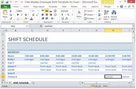 Employee Schedule Template Excel Free Weekly Employee Shift Template For Excel