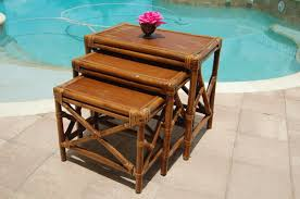 vintage rattan nesting tables vintage bamboo nesting tables summer sale beach chic cottage at
