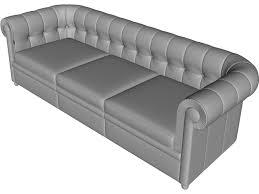 3d Sofa Couch 3d Model 3d Cad Browser