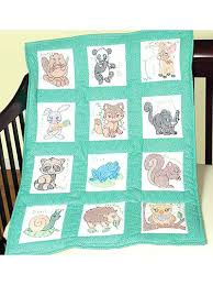 embroidery quilt kits forest friends 9 nursery quilt blocks