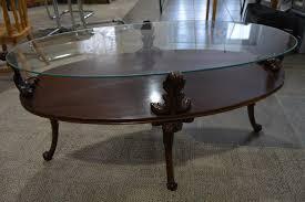 Oval Glass Top Coffee Table Coffee Table Amazing Oval Glass And Wood Coffee Table Gold Glass