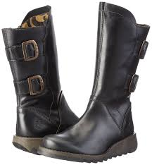 womens motorbike boots fly london women u0027s sher730fly biker boots amazon co uk shoes u0026 bags