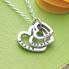 Mothers Necklaces With Children S Names Personalised Family Names Heart Necklace Ring Designs Silver