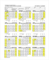 scheduling calendar templates 5 free pdf documents download