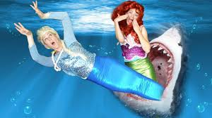 frozen elsa mermaid shark ariel mermaid spiderman