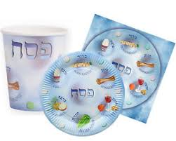 passover paper plates set of disposable paper plates paper cups and serviettes napkins