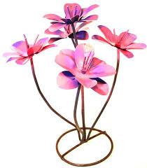 metal flowers yard metal flower sculpture 18 mflwr002 camino real imports