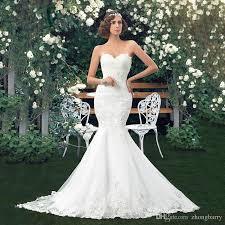 wedding dress sle sales ne022 mermaid wedding dress fish style white lace with belt 2017