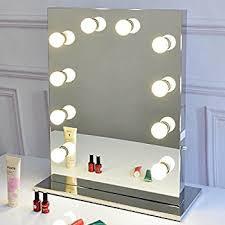 Makeup Vanity Mirror With Lights Amazon Com Hollywood Makeup Theatre Dressing Room Vanity Mirror