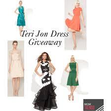 fashionable teri jon dresses u0026 a giveaway momtrends