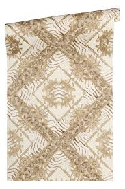 versace home wallpaper zebra ornaments taupe gloss 34904 1