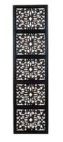 Decorative Wood Wall Panels by Amazon Com Deco 79 32661 Ebony Black Hand Carved Wood Wall Decor