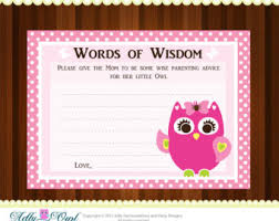 words of wisdom cards for bridal shower items similar to royal princess word of wisdom girl baby