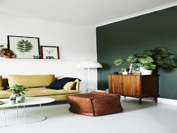 Light Green Bedroom - green wall living room orange and green wall color for