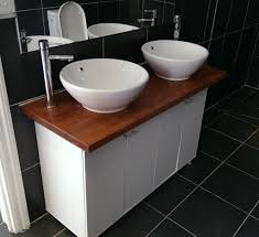 Bench Vanity Check Out This Diy Timber Top Bench Vanity Unit Bathrooms