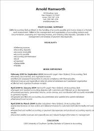Receptionist Resume Templates Professional Accounting Clerk Resume Templates To Showcase Your