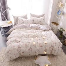 flamingo printed duvet cover set 100 cotton s bedding set twin queen king size duvet cover pillow case for bed linen quilt duvet cover cotton