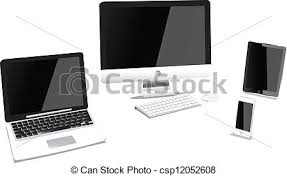 Computer Desk Gadgets Vector Clipart Of Computers And Gadgets Csp12052608 Search