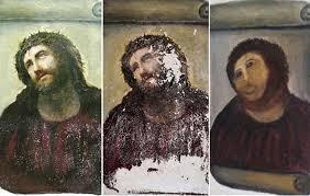 Monkey Jesus Meme - infamous jesus painting restoration inspires opera about the woman