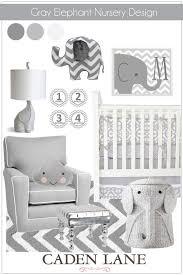 gray elephant nursery design caden lane