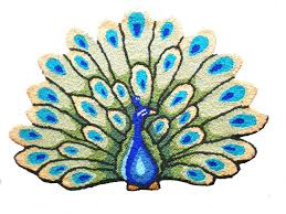 amazon com maxyoyo personalized area rugs hand embroidery peacock