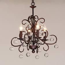 Metal Chandeliers Max 40w Traditional Classic Painting Metal Chandeliers Living Room