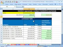 Sales Commission Excel Template Excel Magic Trick 453 Vlookup For Commission Brackets Calculation
