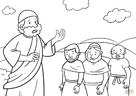 Printable Coloring Pages Bible Coloring Pages Moses Free Bible Coloring Pages Moses
