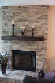flat stone fireplace home design