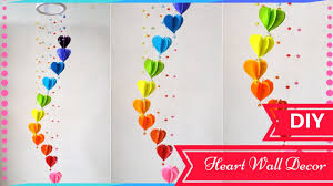 paper craft for home decoration wall decoration with chart paper diy decor ideas for valentines