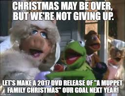 Family Christmas Meme - caign for eventual muppet family christmas dvd release home
